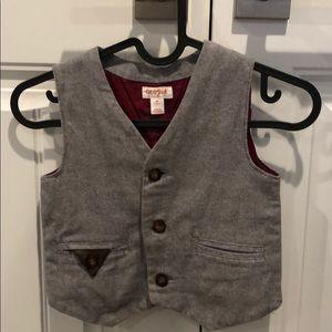 Toddler boys dressy grey herringbone vest size 4T